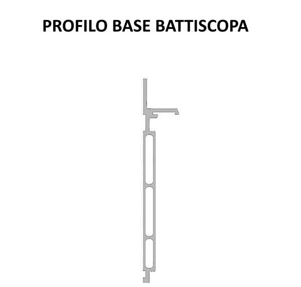 Solo Profilo battiscopa filo muro