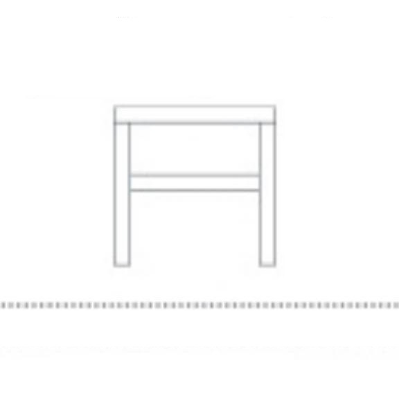 Bedside table size with shelf