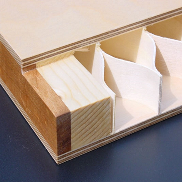 Honeycomb wood bedside tables for hotel furniture