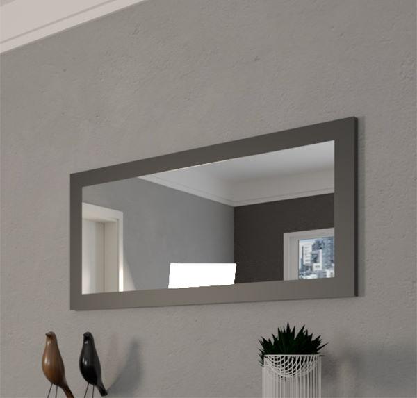 specchio con cornice liscia nero