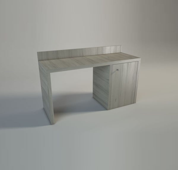 Desk with minibar compartment