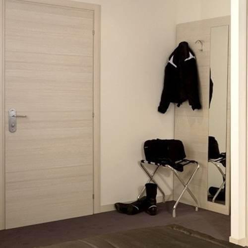 Coat hanger with mirror