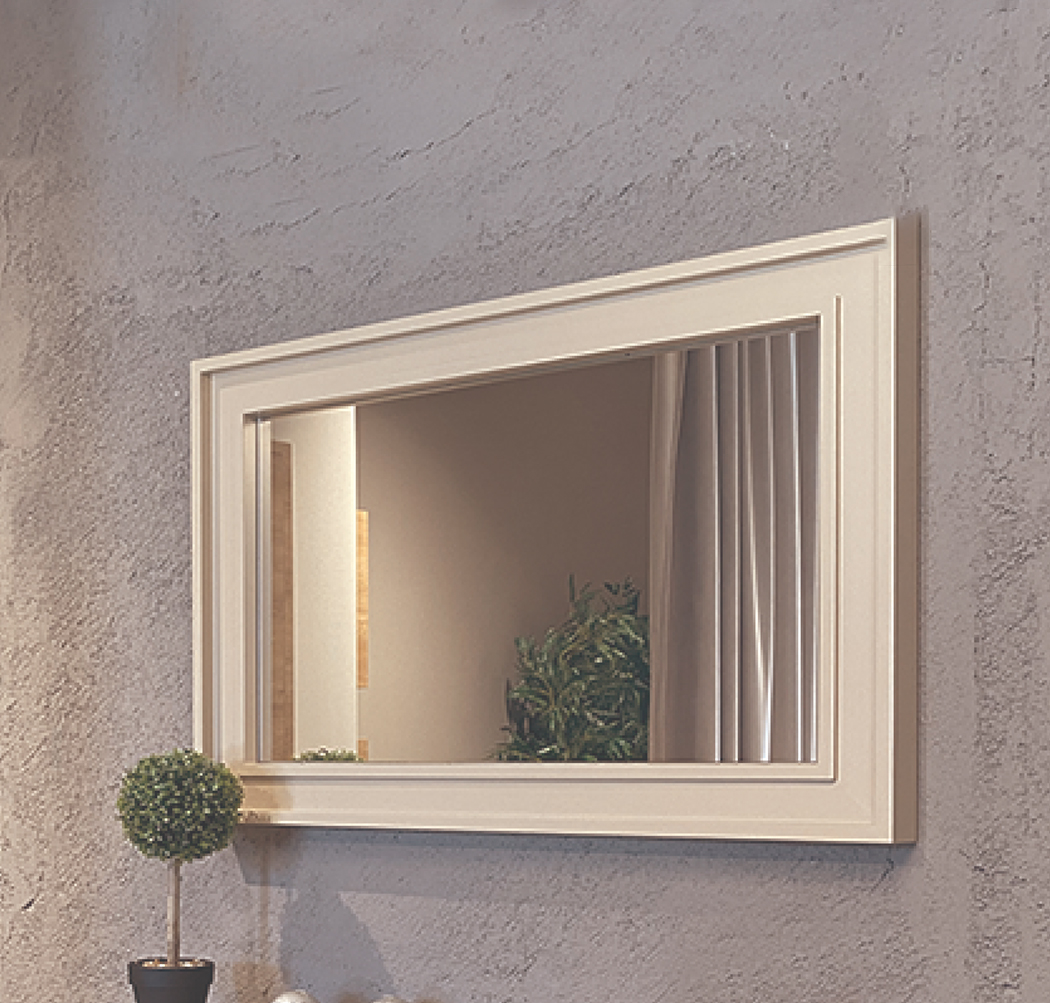 mirror with urban model frame
