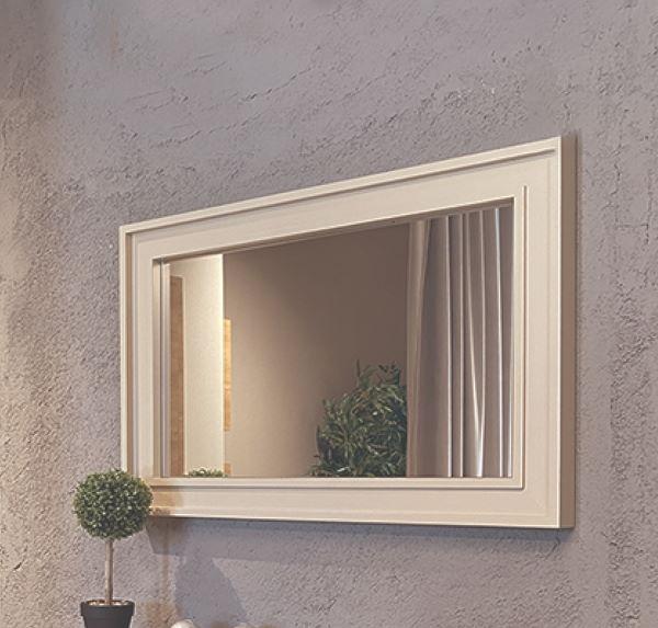 mirror with urban model frame