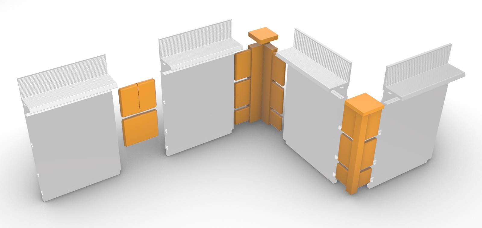 Flush-to-the-wall skirting board with joints