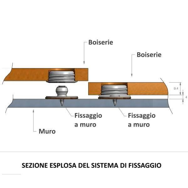 Interlocking boiserie panels