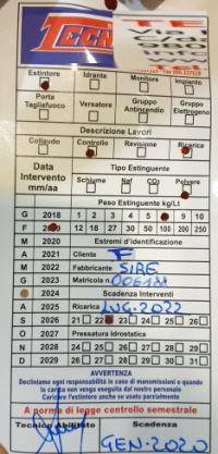 REI 120 door maintenance tag