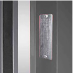 REI 120 door plate