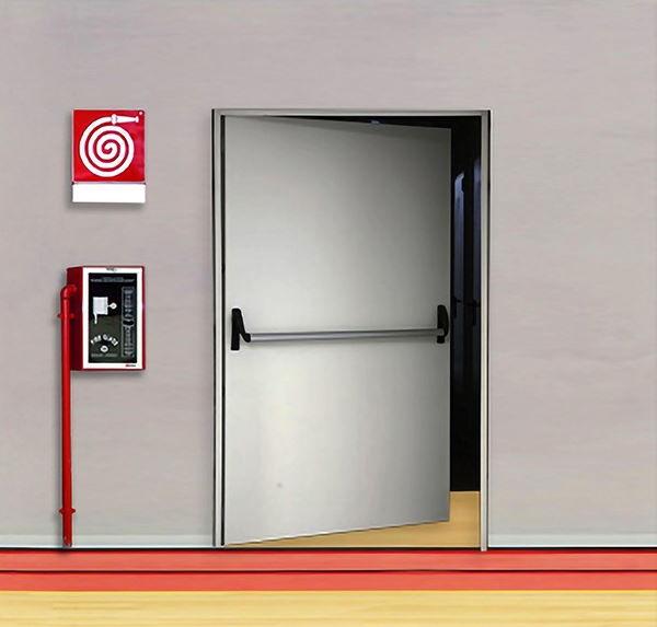 REI 120 fireproof door for masonry or plasterboard