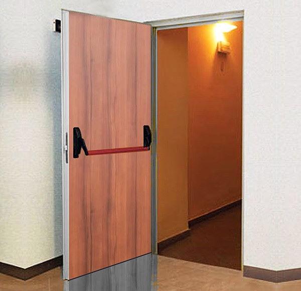 REI 120 door covered in wood color