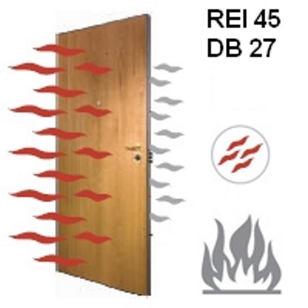 Door leaf REI 45